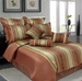 9 Piece King Jane Jacquard Bedding Comforter Set