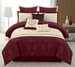 9 Piece King Sonoma Floral Quilted Comforter Set