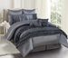 9 Piece King Valisa Charcoal Comforter Set