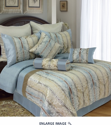 9 Piece Queen Aliton Jacquard Bedding Comforter Set