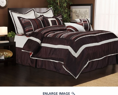 9 Piece Queen Bales Bedding Comforter Set