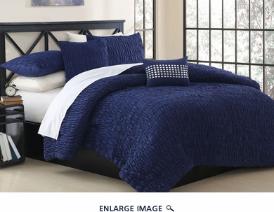 9 Piece Queen Empire Midnight Bed in a Bag w/500TC Cotton Sheet Set