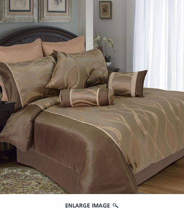 9 Piece Queen Losa Jacquard Bedding Comforter Set