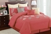 9 Piece Queen Martha Pink Embroidered Comforter Set