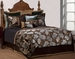 9 Piece Queen Rainforest Jacquard Bedding Comforter Set