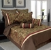 9 Piece Queen Senole Jacquard Bedding Comforter Set