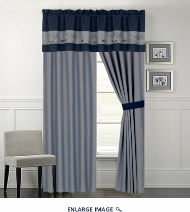 Azura Bamboo Flower Curtain Set