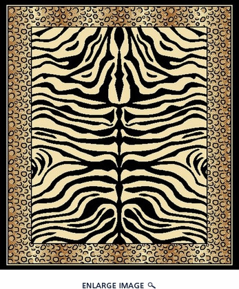 Babylon 5123 Black Contemporary Area Rug 5'X7'
