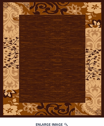 Babylon 5382 Brown Contemporary Area Rug 5'X7'