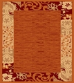 Babylon 5382 Rust Contemporary Area Rug 5'X7'