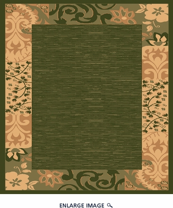 Babylon 5382 Sage Contemporary Area Rug 5'X7'