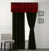 Baccina Black and Red Curtain Set