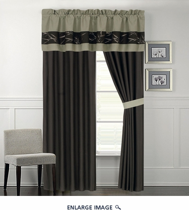 Bamboo Embroidered Curtain Set