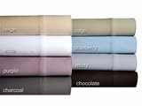 Beige 500 Thread Count Cotton Sateen Sheet Set Full