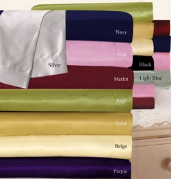 Beige Charmeuse Lingerie Satin Sheets California King