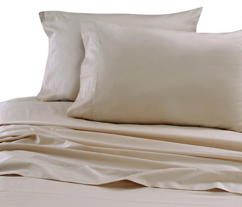 Beige Hotel 600 Thread Count Cotton Sateen Pillowcases Standard/Queen