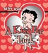 Betty Boop A Kiss for Luck Red Blanket Queen