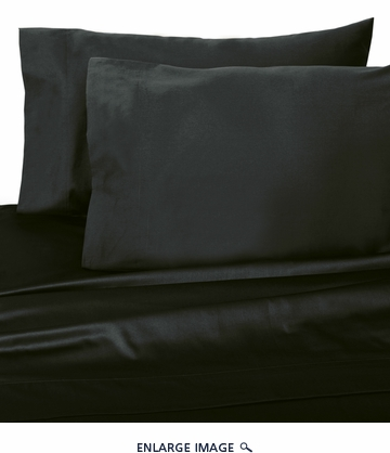 Black 300 Thread Count Cotton Sheet Set Queen