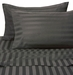 Black 500 Thread Count Damask Stripe Cotton Sheet Set Twin