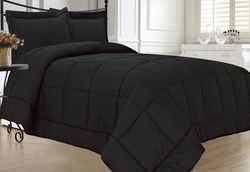 Black Down Alternative Comforter Set Extra Long Twin XL