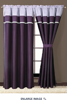 Blaine Purple and Lilac Curtain Set
