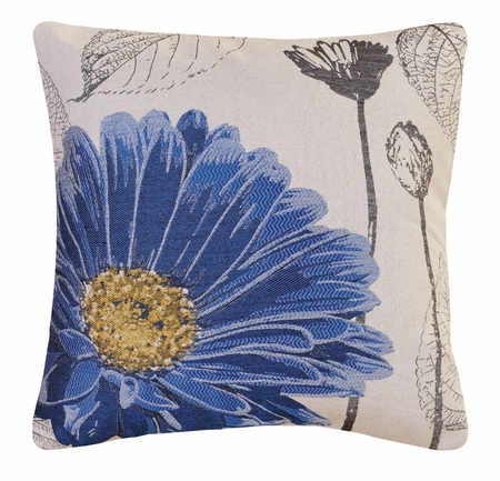 Blue Aster Decorative Square Throw Pillow 18