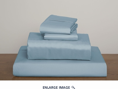 Blue Collins 1000 Thread Count Solid Sheet Set Queen