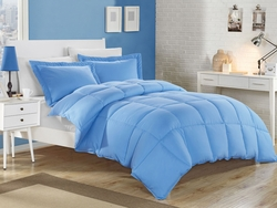 Blue Down Alternative Comforter Set Full/Queen