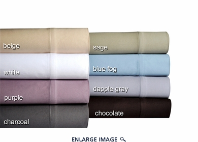 Blue Fog 500 Thread Count Cotton Sateen Sheet Set Full