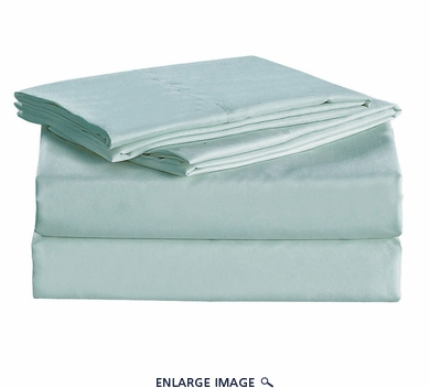 Blue Micro Fiber 1600TC Sheet Set Twin