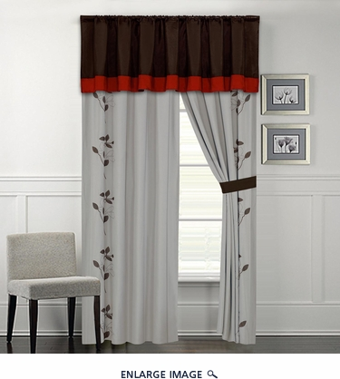Brookfield Embroidered Curtain Set