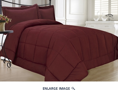 Burgundy Down Alternative Comforter Set Full/Queen
