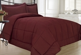 Burgundy Down Alternative Comforter Set Twin