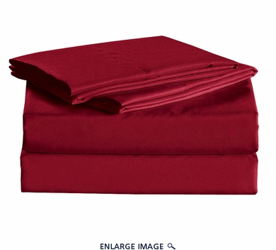 Burgundy Micro Fiber 1600TC Sheet Set Twin