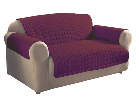 Burgundy Micro Suede Sofa Protector