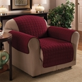 Burgundy Micro Suede Chair Protector