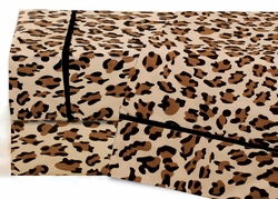 Cal King Leopard Print Cotton Sheet Set