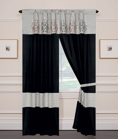 Calantha Silver Gray Curtain Set