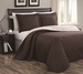 Cambria Chocolate/Ivory Reversible Bedspread/Quilt Set Queen
