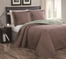 Cambria Taupe/Sage Reversible Bedspread/Quilt Set Queen