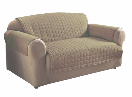Camel Micro Suede Loveseat Protector