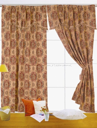 Canyon Curtain Set w/ Valance/Sheer/Tassels