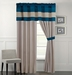 Carter Blue and Yellow Curtain Set