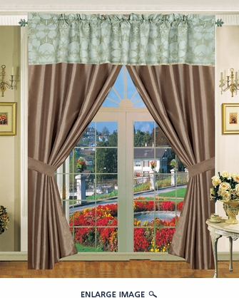 Castex Curtain Set w/ Valance/ Tiebacks / Sheers