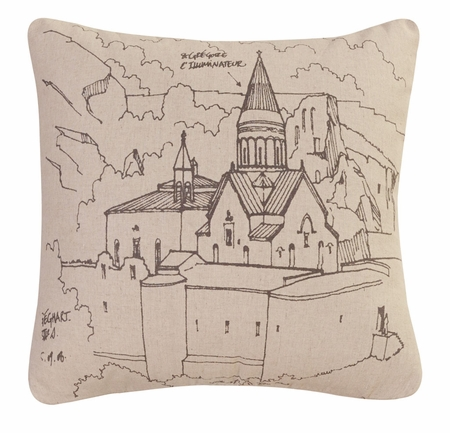 Cathedral Decorative Square Throw Pillow 18