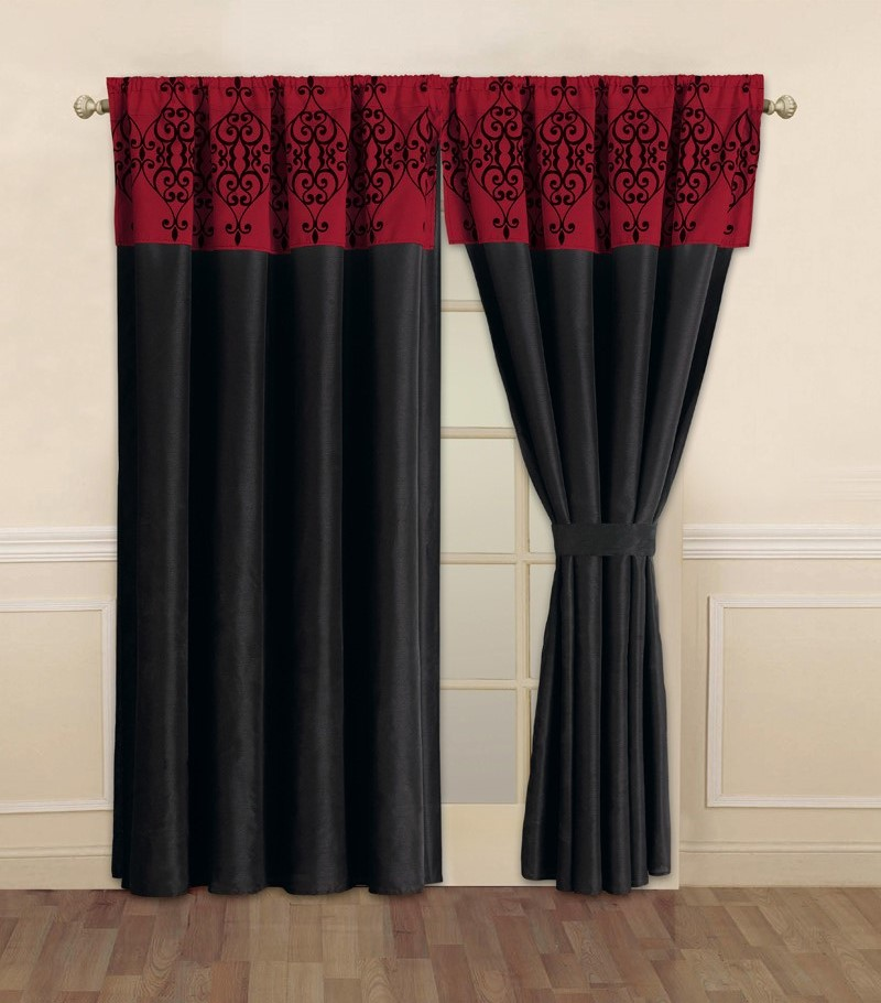 dark red curtains bing images