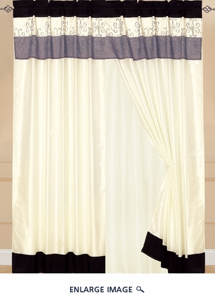 Chantel Curtain Set Black