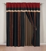Chenille Sqaure Burgundy Curtain Set w/ Tassels / Sheers