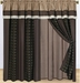 Chenille Sqaure Curtain Set w/ Tassels / Sheers