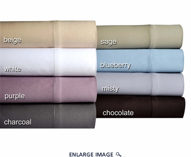 Chocolate 500 Thread Count Cotton Sateen Sheet Set Twin